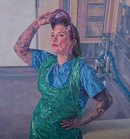 Katie Tomkins - Portrait of an NHS Hero A1 Limited Edition Giclee Print