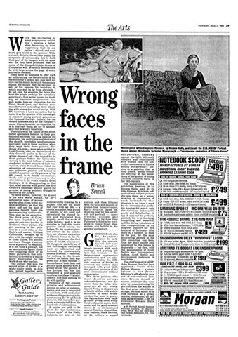 'Wrong Faces in the Frame'