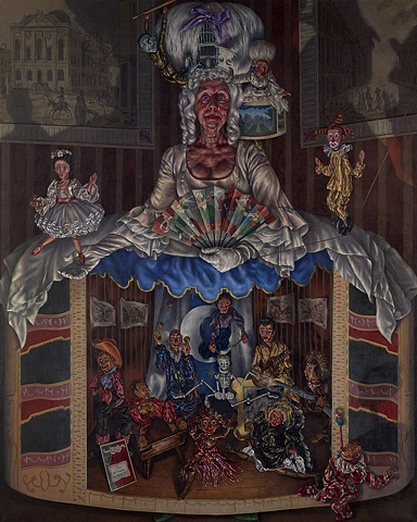 Mrs Irma Powell and the Britannia Marionettes Giclee Print A2 Limited Edition Giclee Print