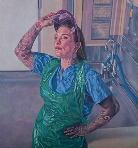 Painted for PORTRAITS OF NHS HEROES