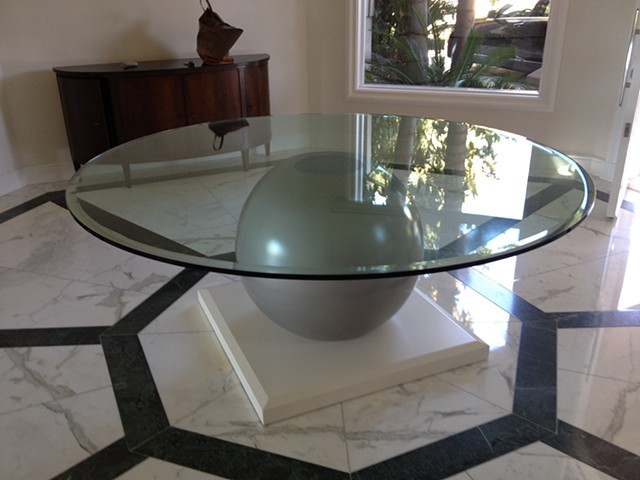 "Custom 72"" Diameter Dining Table"