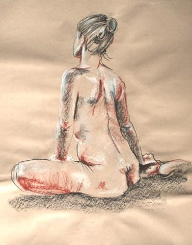 Nude Seated Back