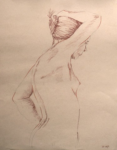 Nude Female Torso Side