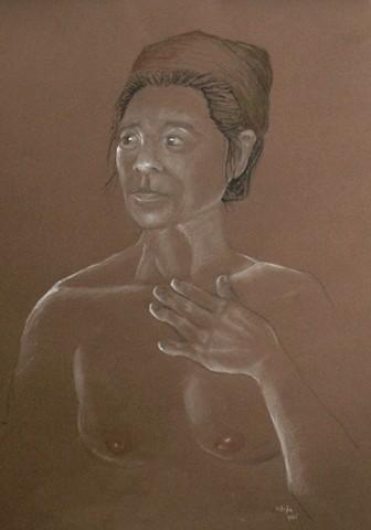 Bonnie Portrait on Canson
