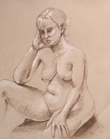 Rather Fey Nude Seated