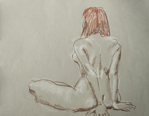 Red Hair Nude Back