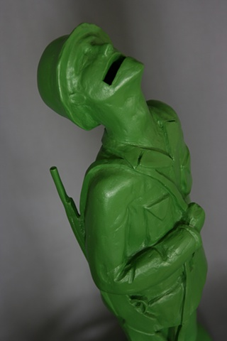 detail, untitled (soldier piggy bank)