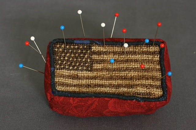 Human Hair Flag Pincushion