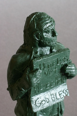 detail, Homeless Army Man