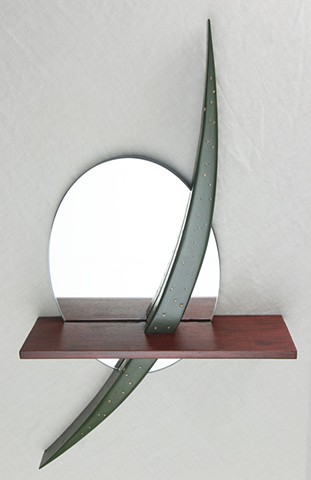 mirror with shelf, sculpture