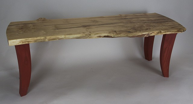 ambrosia maple curly maple bench