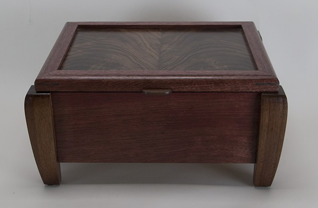 purpleheart, walnut memories box