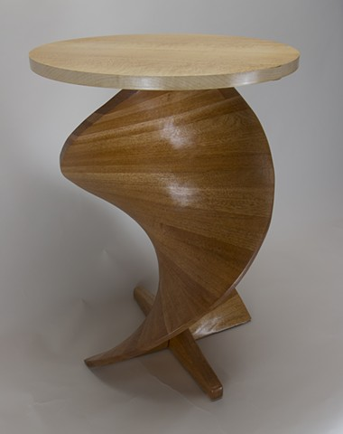 cocktail table, helix, bird's eye maple