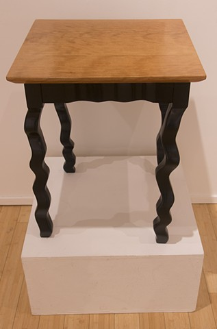 Wiggly Leg Table with Curly Cherry Top