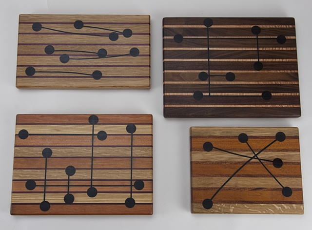 Cheese Boards with decorative inlay