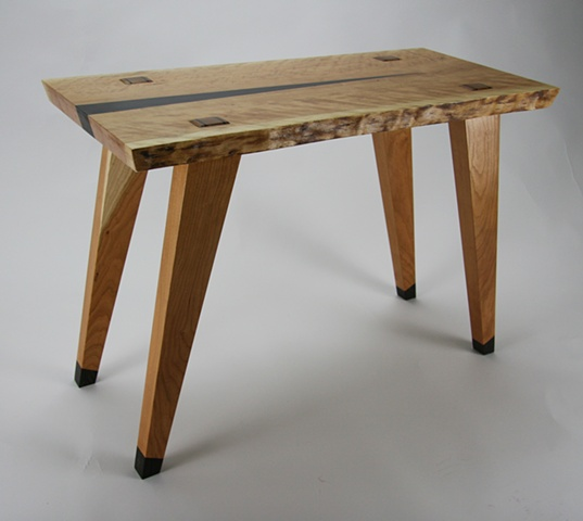 Cherry table with wenge accent