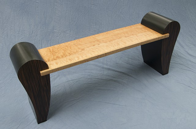 bench, curly maple