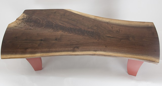 Walnut Top Coffee Table Top View