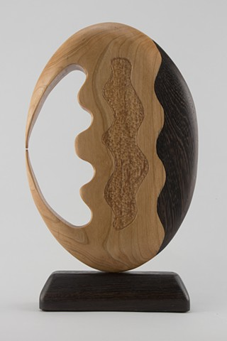 abstract wood sculpture