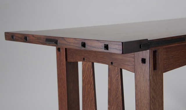Craftsman Coffee Table End Detail