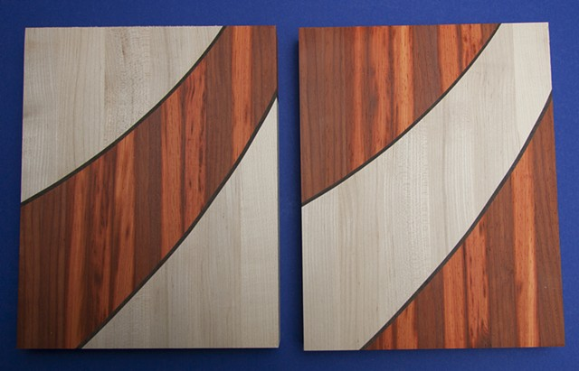 padauk and maple cheese boards