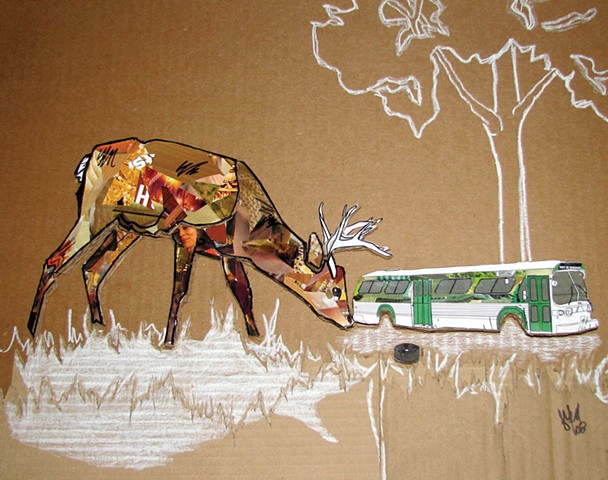 Untitled 4 (deer & bus)