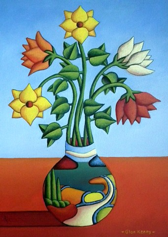 Soft vase with flowers by Alan kenny