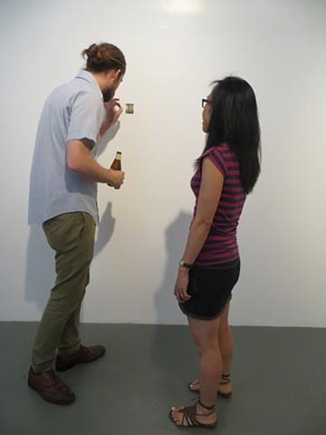 """""""Cracker Barrell"""" installation at Harbor Gallery 2014"""