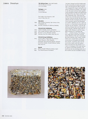 Site Matters Publication on LMCC's World Trade Center Residency, New York 2004