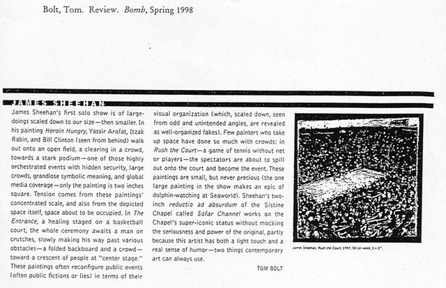 Editor's Choice, BOMB Spring 98