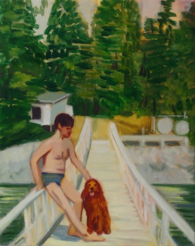 Summertime (Fairfield Porter and a Red Dog)