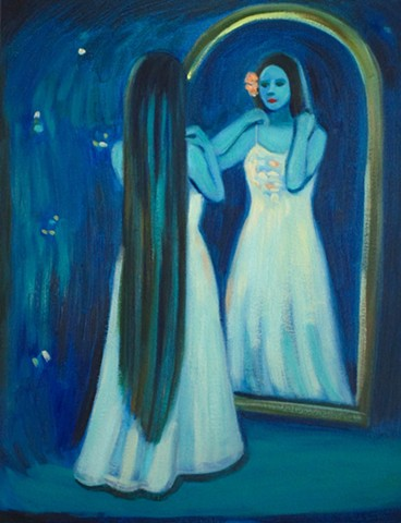 A Blue Dressing Room
