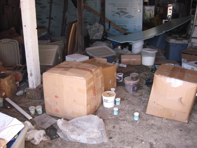 Studio view after Hurricane Ike, September 2008