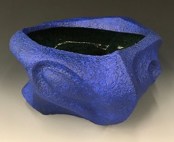 Blue Serving Bowl View 2