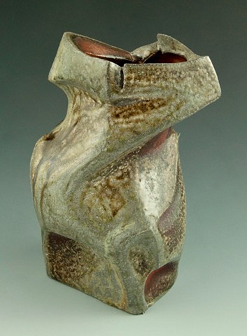 Altered Stoneware Vase view 3