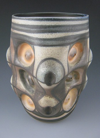 Vase, Cone 10 Porcelain, Wood Fired