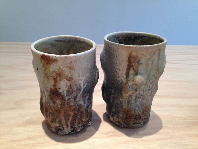 Tumbler Pair, Cone 10 Porcelain, Wood Fired