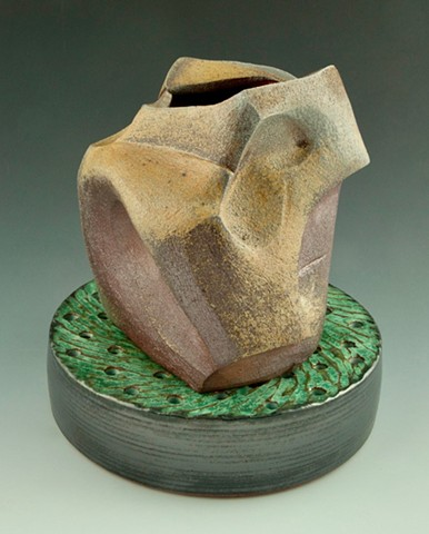 Stoneware Vase on Drain view 2
