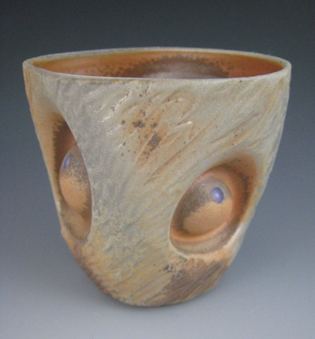 Cup, Cone 10 Porcelain, Wood Fired