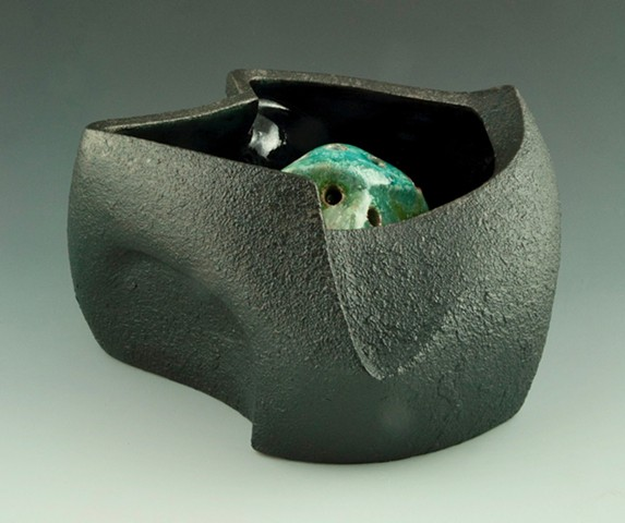 Black Serving / Flower Bowl View 4