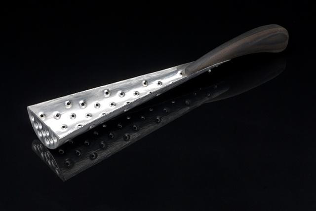 Sterling Silver Serving Spoon w/ Ebony Handle