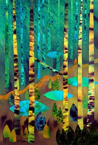 Pools dot the forest landscape