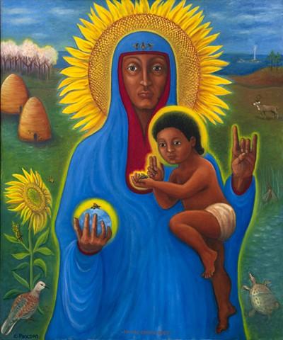 Madonna of the Bees, Black Madonna, Environmental Art