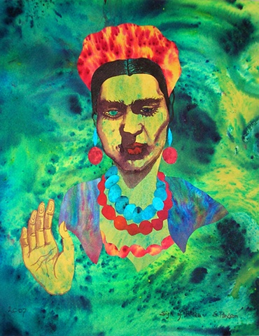 From an original series in tribute to Frida Khalo's self-portraits