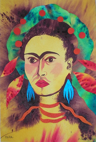 From a series of original pieces in tribute to Frida Khalo's self-portraits