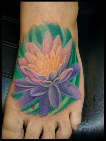 Salisbury Maryland tattoos crucial tattoo studio tattoo lotus foot