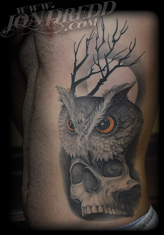 crucial tattoo studio best tattoos salisbury maryland tattoos jonathan kellogg jon dredd delaware ocean city Owl Skull skulls moon tree owls