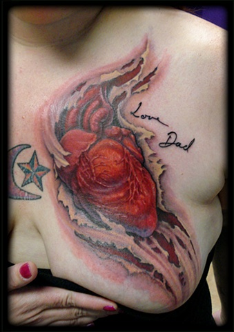 crucial tattoo studio salisbury maryland tattoos heart rip