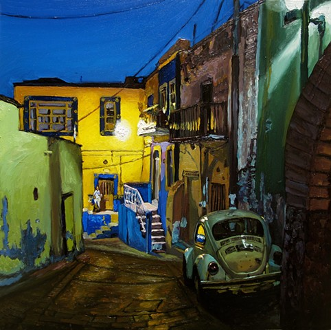 Guanajuato night Volkswagen beetle bug bocho bochito VW