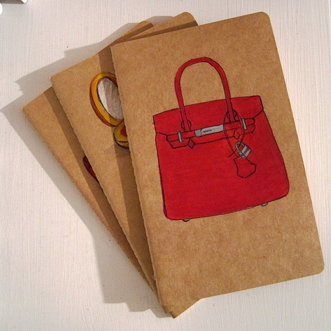 A Classic Hermes Birkin Bag, illustrates the cover of a legendary Moleskine Notebook by Contemporary Artist Linda Boucher- what's not to like! A great gift if you are looking to please the lady in your life this Christmas.